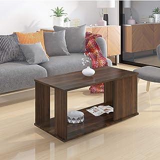 Klaxon Lupine Engineered Wood Coffee Table/Centre Table, Tea Table (Walnut)