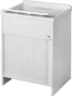Negrari - 4006 k lavabos con puerta corredera, pvc, blanco, 45 x 50 x 85 cm