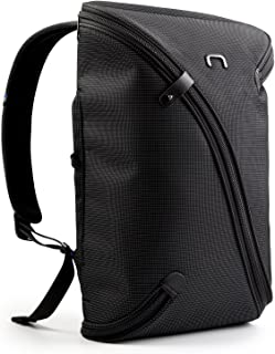 NIID Water Repellent Slim Art Supplies Backpack UNO I Bag USB Charging Port Fits Up to 15.6 inch, Rucksack Business Bag Daypack for Working College Travel, (Standard Panel, Black)