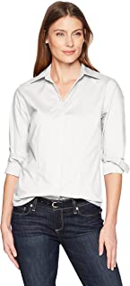 Riders by Lee Indigo Women's Long Sleeve Button Front Easy Care Woven Shirt