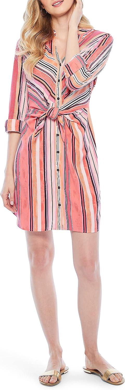 NIC+ZOE Women's Sunset Stripe Shirt Dress