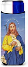 Caroline's Treasures Jesus The Good Shepherd Holding A Lamb Michelob Ultra Koozies for Slim Cans, Multicolor