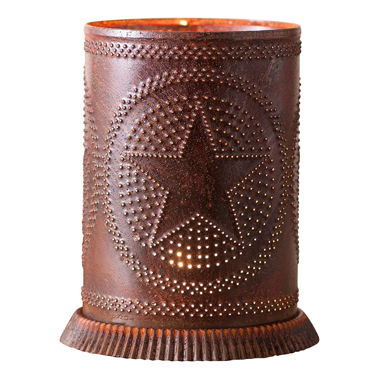 Irvin's Country Tinware Candle Warmer with Regular Star in Rustic Tin