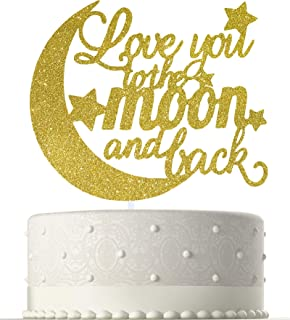To the Moon & Back Wedding Cake Topper, Elegant Wedding Anniversary Party Decoration