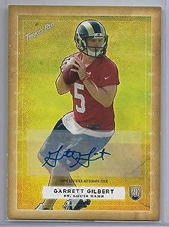 2014 Topps Turkey Red Football Garrett Gilbert Autograph Rookie Card # 88