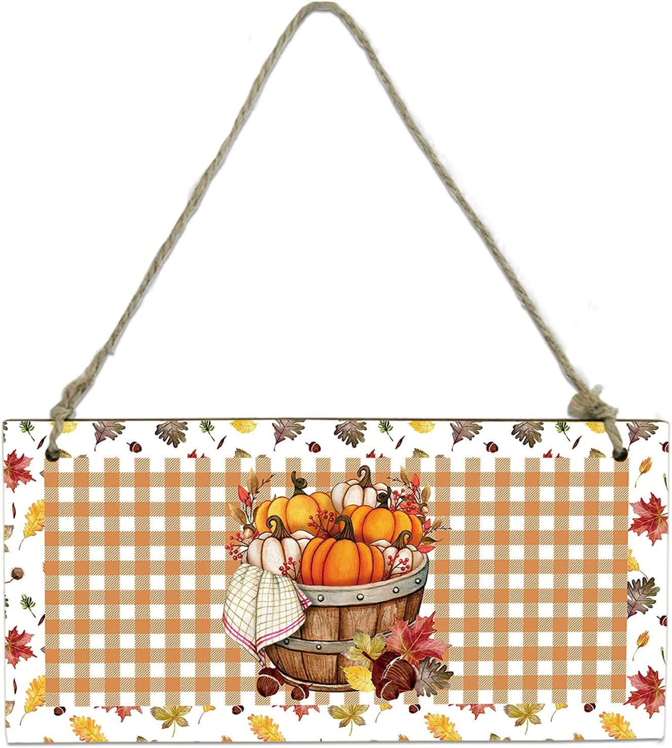 Wood Plaque Wall Hanging Sign Bathroom Pumpki Kitchen for Max 40% OFF Ranking TOP4 Autumn