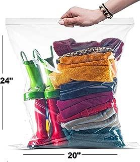 Ziplock 10 Gallon Jumbo Storage Bags 2 Mill 50 Count (Shiny Select)