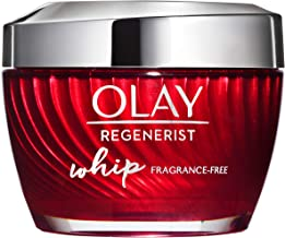 Face Moisturizer Cream by Olay Regenerist Whip Fragrance Free Oil Free facial lotion 1.7 Oz, 2 Month Supply