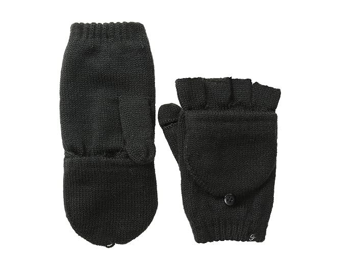 Plush Fleece-Lined Texting Mittens (Black) Dress Gloves