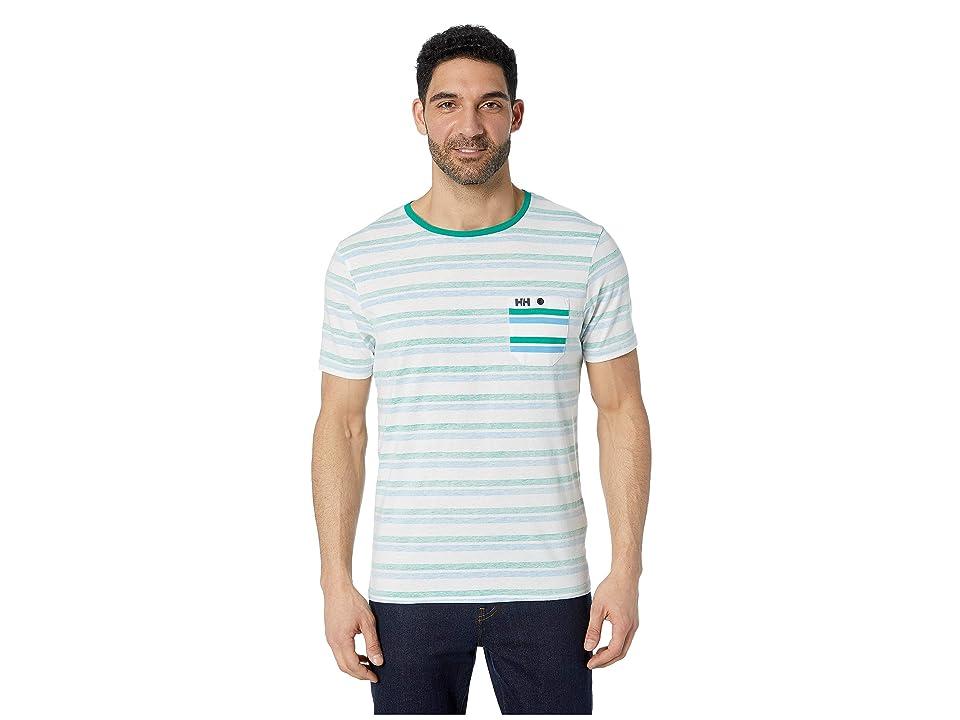 Helly Hansen Fjord T-Shirt (Pepper Green Faded Stripes) Men