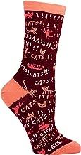 Blue Q Women's Novelty Crew Socks Cats (Womens Size 5 to10)