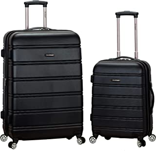 Luggage 20 Inch and 28 Inch 2 Piece Expandable Spinner Set, Black, One Size