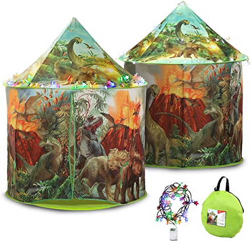 2021 Large Dinosaur Play Tent with wholesale Colorful Light, Indoor and Outdoor Pop Up new arrival Tent Dino Playhouse for Kids, Boys and Girls online
