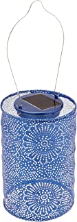 Allsop Home and Garden Soji Stella LED Outdoor Solar Lantern, Handmade with Weather-Resistant UV Treated Tyvek Fabric, Stainless Steel Hardware, Auto sensor on/off, for Patio, Deck, Garden, Color (Silver)