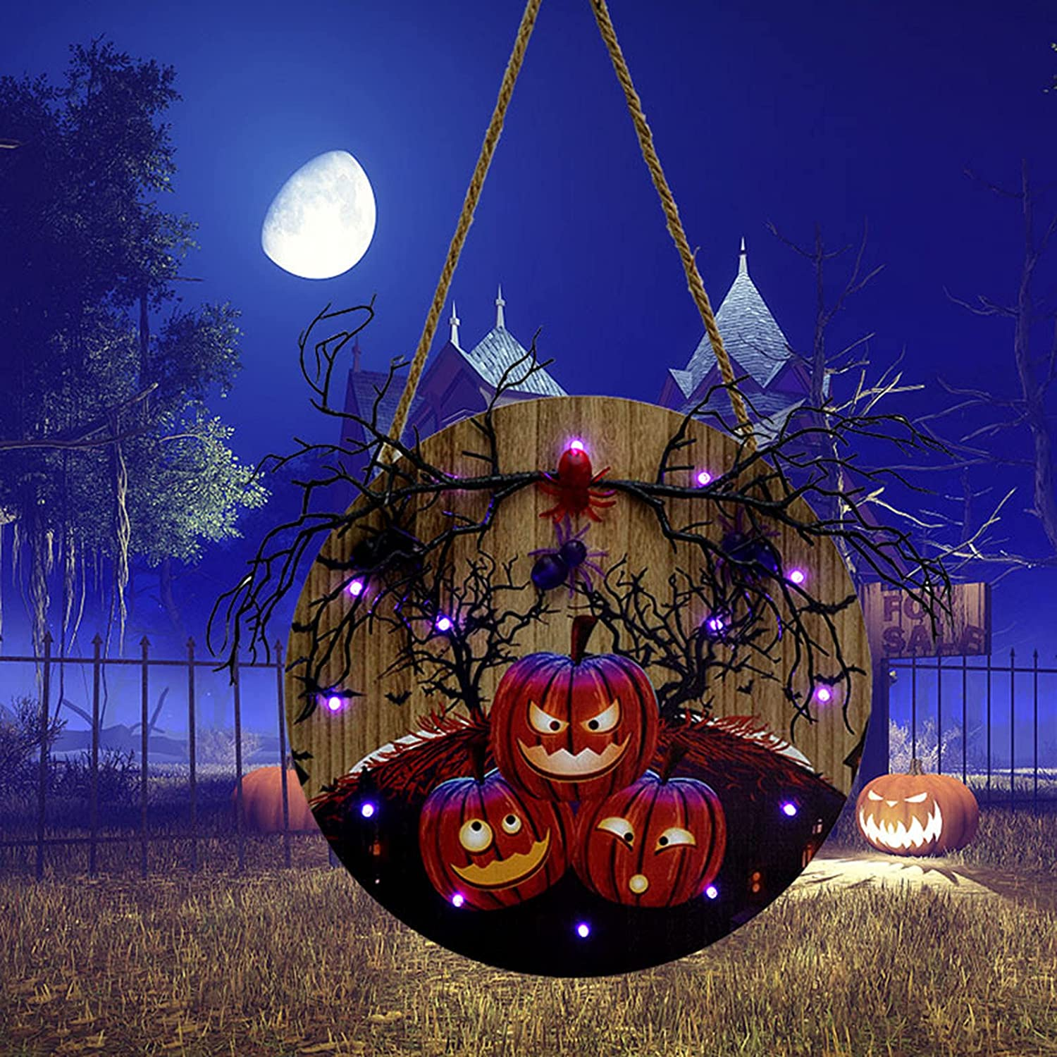 Halloween Party Supplies Hanging With LED Sign Light Ranking TOP12 Max 81% OFF