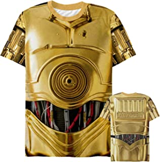 Star Wars Men's C-3PO Droid Costume All-Over Print T-Shirt