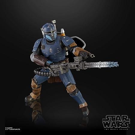 Hasbro Star Wars Black Series Fanteria Pesante (Action figure da 15 cm giocattolo da collezione, ispirata alla serie su Disney+ The Mandalorian), Multicolore, E6996EU4