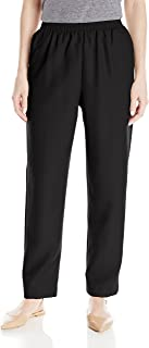 Alfred Dunner Women's All Around Elastic Waist Polyester Petite Pants Poly Proportioned Medium