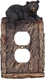 Rainbow Trading RA 4316 Black Bear Decorative Outlet Plate Cover