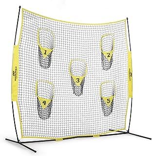 PodiuMax Tragbares Fußball-Trainer-Wurfnetz, 2,4 m x 2,4 m, Knotenloses Netz zur..