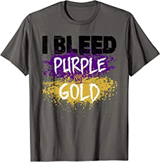 I Bleed Purple And Gold T-Shirt Finger Paint Distressed Look