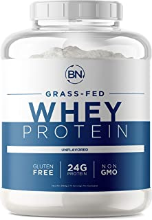 Grass Fed Whey Protein Powder - 100% Natural and Pure – 24g High Protein - 5 lb/72 Servings - Cold Processed - Non-GMO - r...