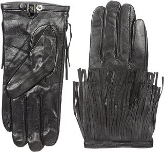 La Fiorentina Women's Leather Glove with Fringed Wrist Cuffs