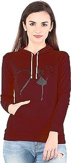 Shocknshop Printed Full Sleeve Cotton Hooded Jacket Top for Women/Girls (HOD05)
