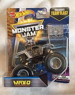 Hot Wheels Monster Jam 2017 Tour Favorites Max-D Maximum Destruction 1:64 Scale