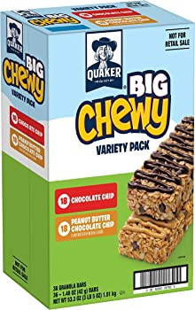 36-Count Quaker Big Chewy Variety Pack