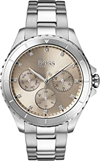 Hugo Boss Gold Dial Stainless Steel Watch For Women