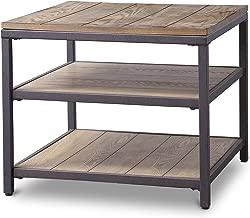 Baxton Studio Caribou Wood and Metal End Table
