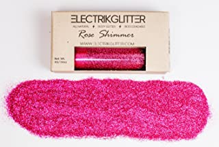 Biodegradable Holographic Fine Body Glitter, ELECTRIK Rave Festival Eco Friendly Cosmetic for Face Hair Nails (Rose Shimmer)