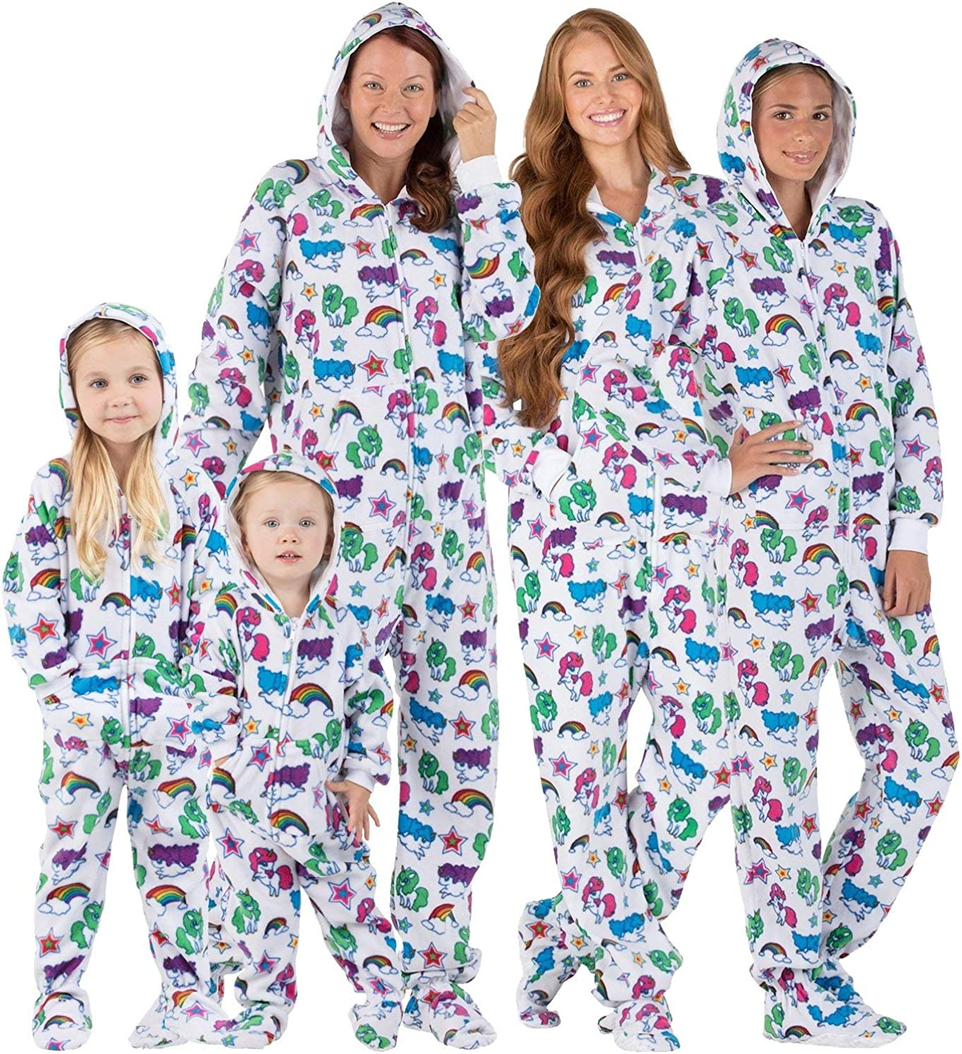 Footed Pajamas - Family Matching Boys Piece Hoodie Onesies One New mail order San Jose Mall