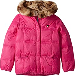 Puffer Jacket with Magnetic Buttons and Faux Fur Hood (Little Kids/Big Kids)