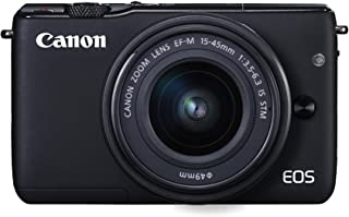 Canon EOS M10 with EF-M 15-45mm Image Stabilization STM Lens Kit, Black