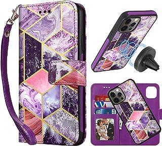 CASEOWL - Funda compatible con iPhone 12 Pro Max Funda tipo cartera magnética desmontable [Soporte soporte magnético para ...