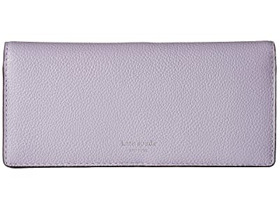 Kate Spade New York Margaux Bifold Continental Wallet (Frozen Lilac) Checkbook Wallet