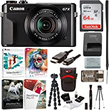Canon PowerShot G7X Mark II Digital Camera with Corel Software and 64GB Bundle