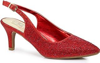 1b1951326088 Enzo Romeo Jupiter Women s Pointy Toe High Mid Heel Sexy Ankle Strap  Sandals Ballerina Dress Pump