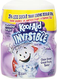 Kool Aid Grape Invisible Drink Mix (19 oz Canisters, Pack of 4)