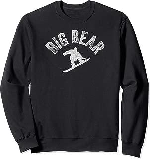 Big Bear California Snowboard Vintage Snowboarder Retro Sweatshirt