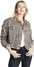 Free People Women's Cheetah Print Denim Jacket