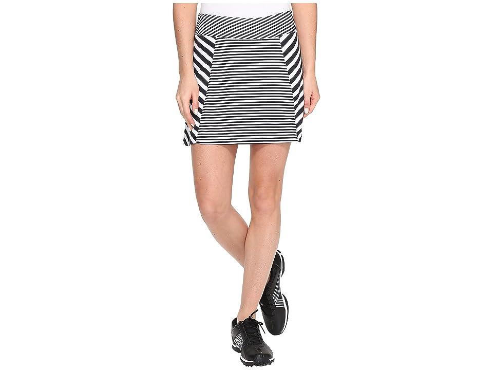 Nike Golf Precision Knit Print Skort 2.0 (White/Black/Metallic Silver) Women