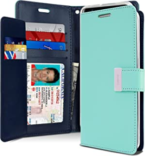Goospery Rich Wallet for Samsung Galaxy Note 8 Case (2017) Extra Card Slots Leather Flip Cover (Mint) NT8-RIC-MNT