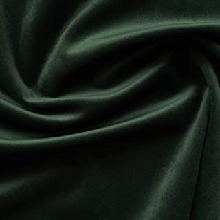 Solid Drapery/Upholstery Soft Velvet Fabric Color Forest Green by The Yard