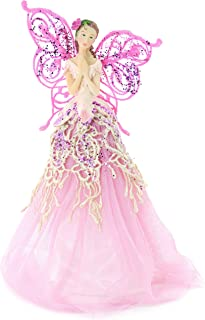 Festive Productions Fabric Angel Christmas Tree Topper, 23 cm - Pink