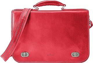 Roberta Rossi Corrado Messenger bag borsa tracolla Briefcase Vera Pelle Vacchetta pieno fiore tamponata a mano Made in Ita...