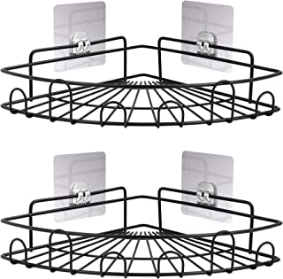 FiGoal 2-Pack Corner Shower Caddy Shower Hanging Organizer, Stainless Steel Bathroom Shelf Wall Mounted with Strong Adhesi...