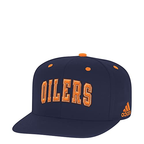 c0ae7db73a2 adidas NHL Edmonton Oilers Arched Graphic Snapback Cap